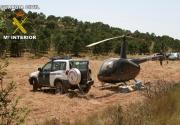 R44 con 330 kg. hachís