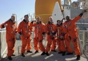 Astronautas contentos