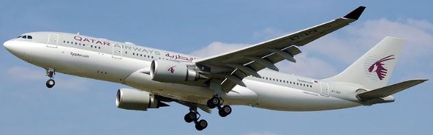 Aterrizaje de un avión de Qatar Airways en Barcelona
