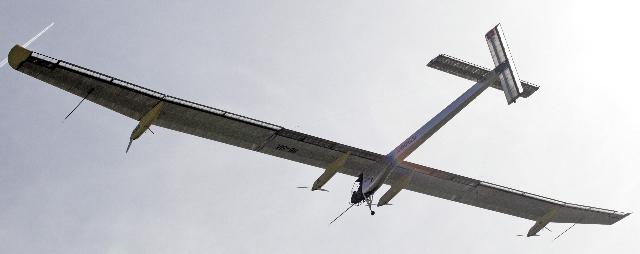 Imagen de archivo del solar Impulse