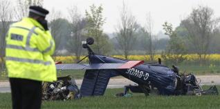 Imagen de un accidente aéreo