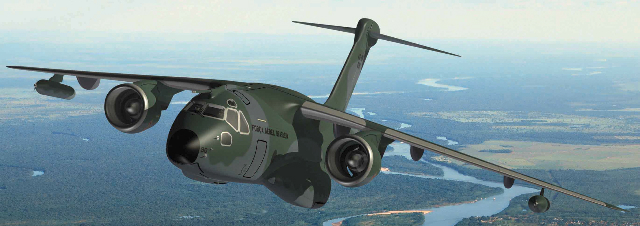 Imagen virtual del avión de transporte militar KC390