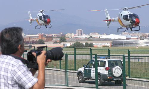 Helicópteros de la Patrulla Aspa, en Sabadell