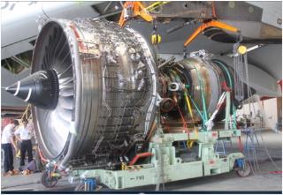 El motor del A380 que sufrió la avería