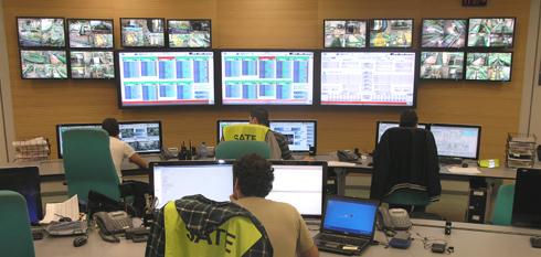 Centro de control del SATE. Cualquier incidencia queda registrada al instante