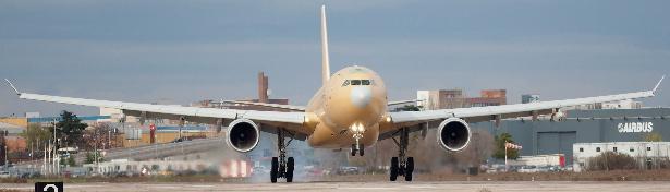 Airbus A330 MRTT de Arabia Saudí, en la base aérea de Getafe (Madrid)