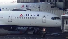 Aviones de Delta Airlines, en el aeropuerto JFK de Nueva York