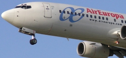 Avión de la flota de Air Europa