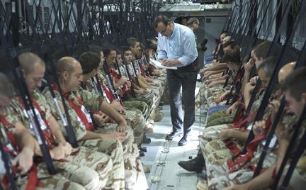 Imagen de una de las pruebas del proceso de certificación del A400M