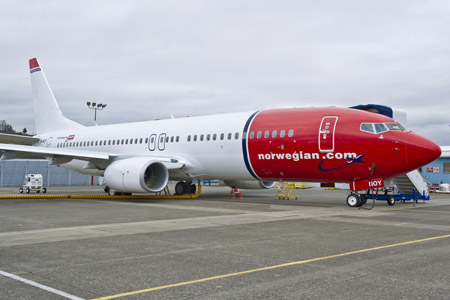 737 Next Gen de Norwegian Air Shuttle
