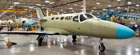 El pasdo verano Cessna fabricó la unidad 400 del Mustang
