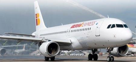 Uno de los aviones de Iberia Express