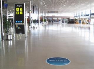 Zona wifi del aeropuerto de Reus