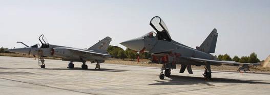 Varios Eurofighter en la base aérea de Albacete / Foto: Ministerio de Defensa
