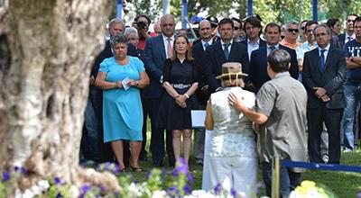 Homenaje a las víctimas del accidente de Spanair en Barajas / Foto: Archivo