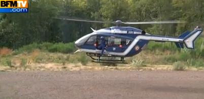 Un helicóptero en la zona del accidente / Foto: Vídeo publicado en YouTube