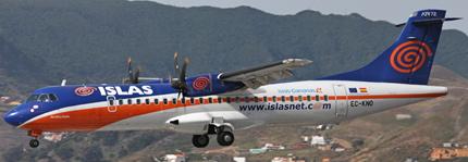 Uno de los aviones ATR de Islas Airways / Foto: Wikipedia