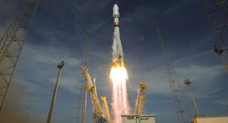 Imagen del lanzamiento de los dos satélites Galileo