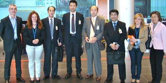 Representantes del aeropuerto Tokyo-Narita