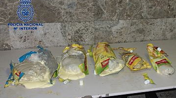 Los llevaba una mujer en su equipaje / Foto: Ministerio del Interior