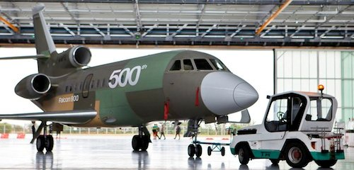 La unidad 500 del Falcon 900