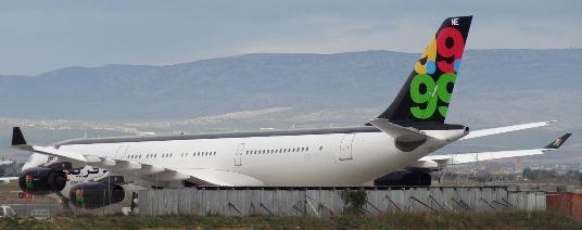 A340 Gadafi, aeropuerto Perpignan