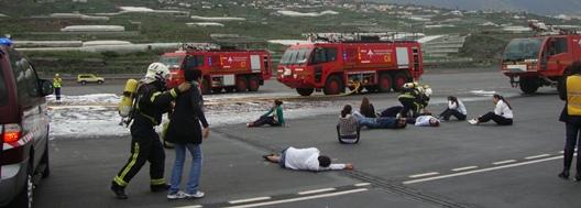 Simulacro accidente aeropuerto La Palma