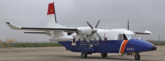 Imagen del último C212-400 que se ha fabricado en Sevilla