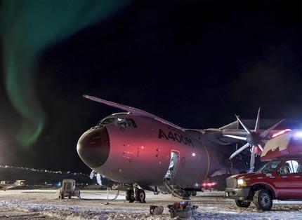 El A400M, en Iqaluit / Foto: Airbus Military