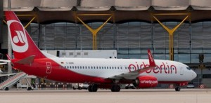 Boeing 737 de Air Berlin, en Madrid-Barajas