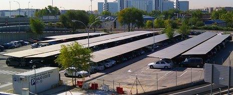 Uno de los aparcamientos de aeropuerto de Madrid-Barajas / Foto: Aena