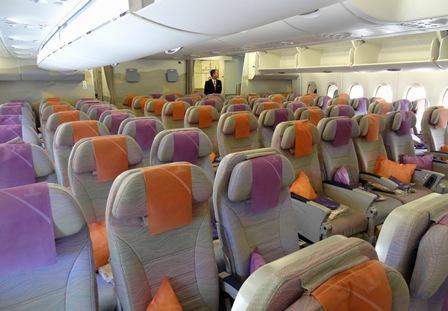 Asientos de clase económica del A380