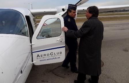 El JEMA conoció la flota de aviones del Aeroclub