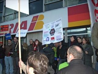 Imagen de la concentración realizada ayer / Foto: USO