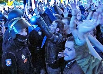 Protesta de los trabajadores de Iberia, ayer en Madrid-Barajas