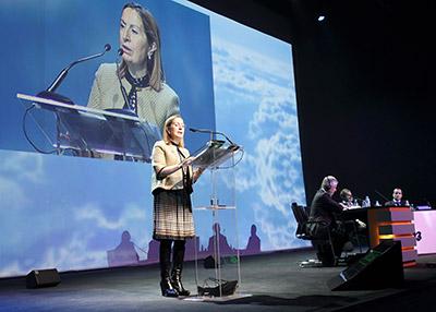 La ministra Ana Pastor, durante su intervención