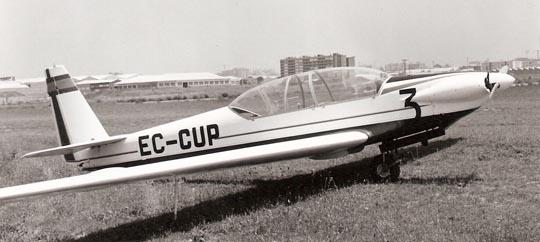 El RF5-B (EC-CUP) en el aeródromo de Sabadell en 1976 / Foto: Archivo Leandro Escorsell