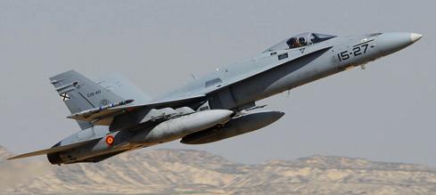 F-18 del Ala 15 durante el ejercicio Tormenta / Foto: Ministerio de Defensa