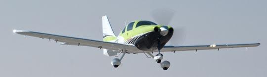 Imagen del Cessna TTx en vuelo