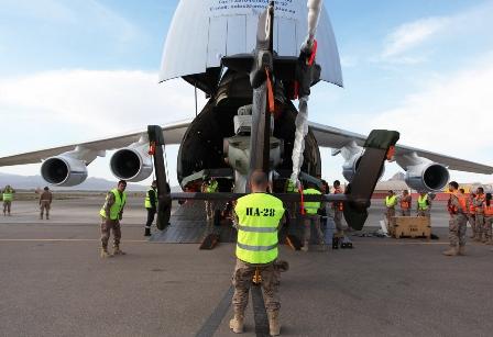 Se ha realizado un importante trabajo de logística / Foto: Ministerio de Defensa