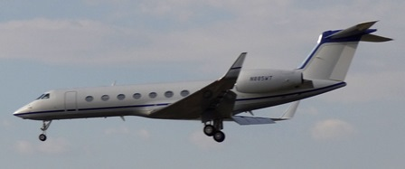 Uno de los jets que llegaron a Barcelona