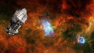 Recreación de Herschel en el espacio / Foto: ESA