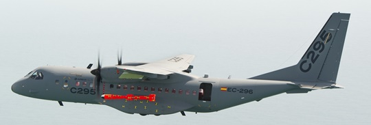 El misil, tiene 3,8 metros de largo y pesa 310 kilos. / Foto: Airbus Military