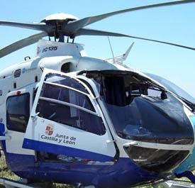 En 2006 ese helicóptero, que no llevaba copiloto, impactó con un ave