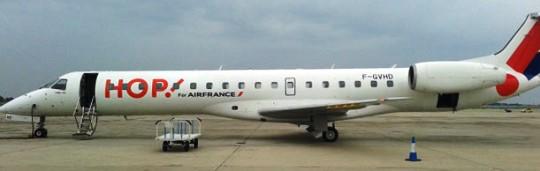 El avión es un Embraer EMB-145, con matrícula F-GVHD