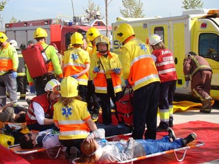 Los servicios de emergencia en acción