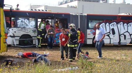 Evacuación de los heridos