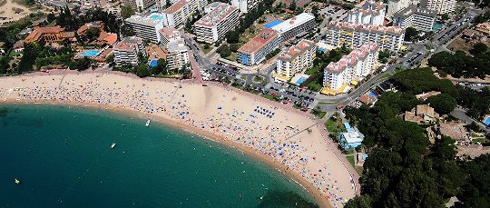 La playa de Fanals, en Lloret de Mar / Foto: Xavier Pou