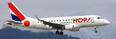 Avión Embraer de la aerolínea Hop!