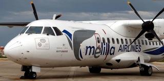 El ATR 42-300 de la compañía / Foto: Melilla Airlines